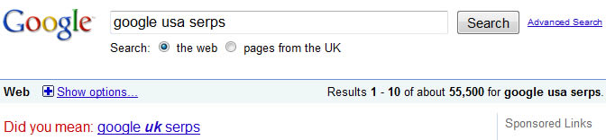 Google UK Serps