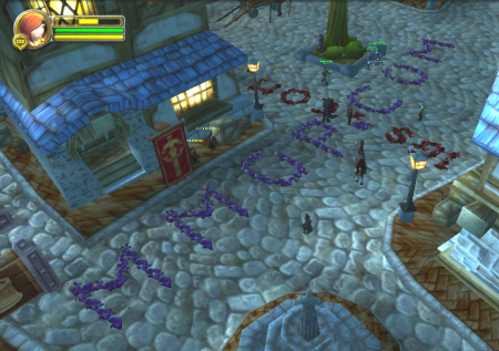 Corpse Graffiti used for advertising in World of Warcraft