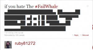 The Fail Whale - Block Style