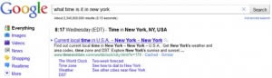 Google: What Time Is It In New York