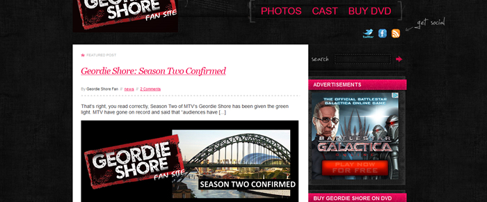 Short Term Site Case Study: Geordie Shore